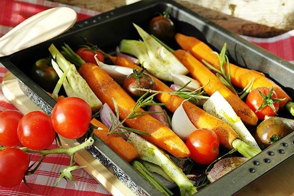 legumes au four